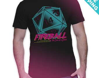 Victory Roll (Neon Dungeon) - Stranger Things / Dungeons and Dragons T-Shirt