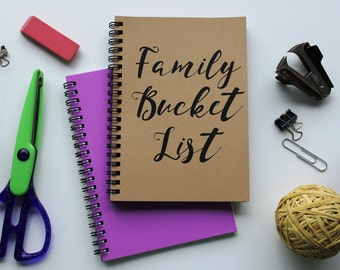 FAMILY Bucket List -   5 x 7 journal