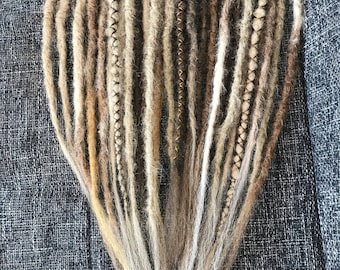 "Dreadset ""Indian"" double ended fox dreads in blond/brown"