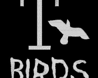 "INSTANT DOWNLOAD - Grease movie T-Birds ""T Birds"" Machine Embroidery Design"