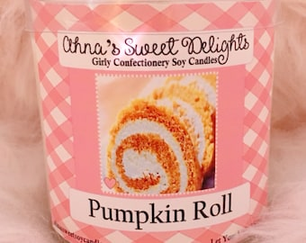 Pumpkin Roll Girly Confectionery Soy Candle