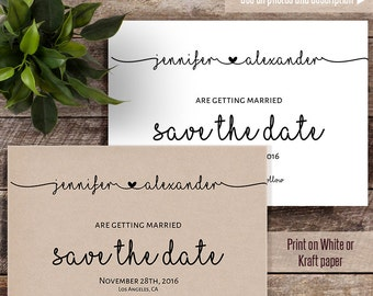 Save the Date, Wedding templates, Printable Save the date, Instant download self editable PDF S119