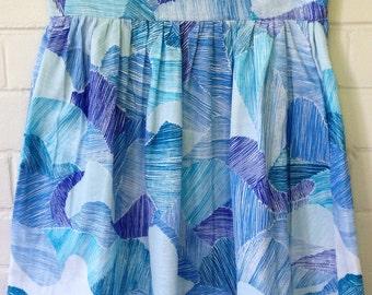 Size S AU(10) Nani Iro Double Gauze Cotton Gathered Skirt with Pockets! Size S only. Dirndl Skirt. Midi Skirt. Circle Skirt
