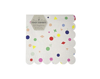 Toot Sweet Charms Small Paper Napkins by Meri Meri, Party Supplies, Tableware