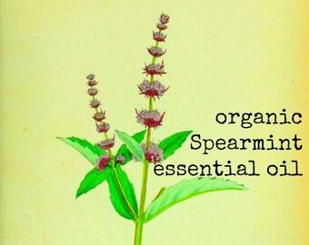 Organic Spearmint Essential Oil | Pure Essential Oils | Aromatherapy Oil | Natural Perfume | Aromatherapy Oils