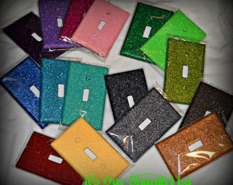 Decorative Glitter Switch Plate Cover ~ Dazzle'em Single Switch Plate Covers