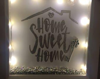 Home Sweet Home Light Up Shadow Box