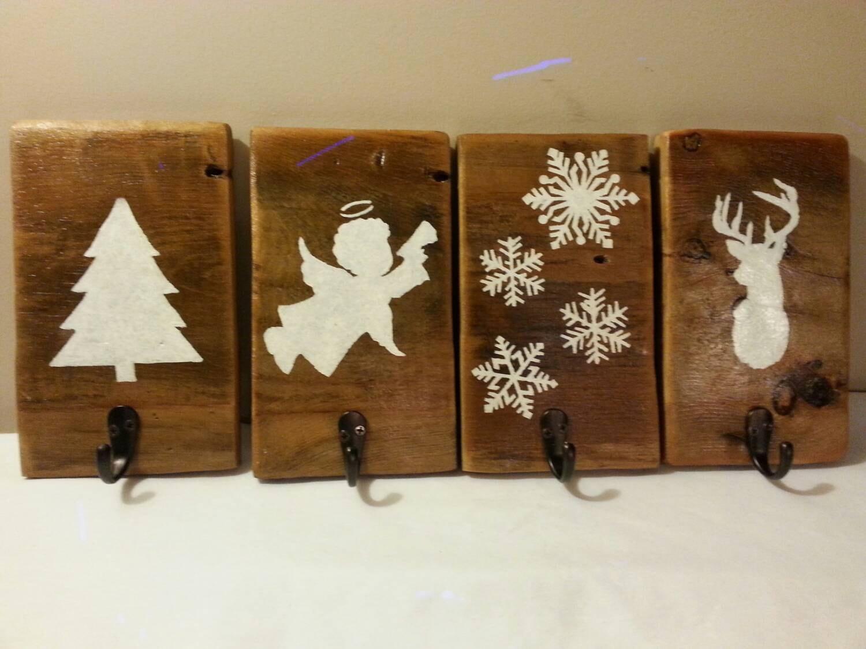 rustic christmas stocking hanger reclaimed barn wood stocking