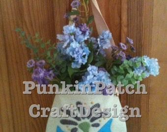 Primitive folk art hanging bag pattern