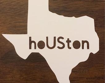 Houston Strong Hashtag Vinyl Decal