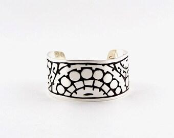 """Women's Sterling Silver Cuff Bracelet """"The Rising Sun"""""""