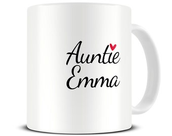 Aunt Mug - Personalized Aunt Coffee Mug - gift for aunt - auntie mug - pregnancy announcement MG491
