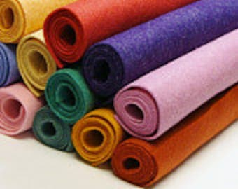 """12""""x18""""-Pick 5 Wool Felt Blend Sheets- you choose colors"""