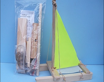 SAILBOAT KIT, Yellow Toy Sailboat,Wooden Toy Boat,Easter Gift,Sailboat,Pool Toy,Birthday Party,Wood Boat,Toy Boat, DIY Boat Kit,Party Favor