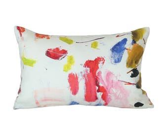 Arty designer lumbar pillow covers - Made to Order - Pierre Frey