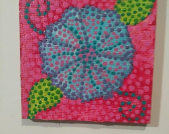 Flower Hand Painted Magnet