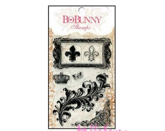 "Clear stamps ""royalty"" BO BUNNY scrapbooking embellishment 7 *."