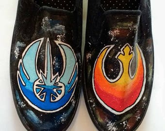 Jedi Rebellion hand painted shoes