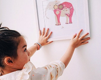 Elephant Art Nursery | Elephant Decor
