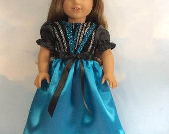 """Glittering party dress for 18"""" doll"""