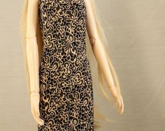 BJD, MSD, doll dress, msd maxi dress, bjd maxi dress, doll outfit, msd long dress