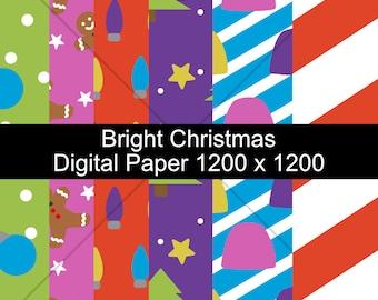 Bright Christmas Digital Pattern Paper