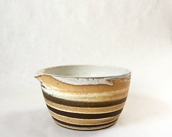 Handmade Ceramic Mixing Bowl, Batter Bowl