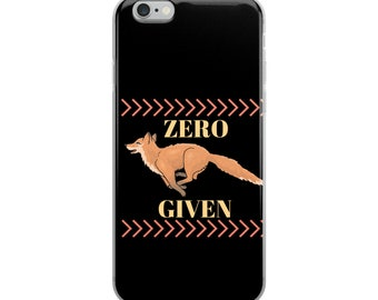 Zero Fox Given Cell Phone Case iPhone Case 6 Plus, 6/6s, 7 Plus, 8 Plus, X Orange Fox on black