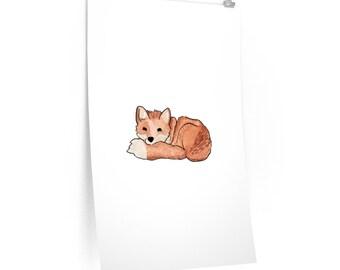 Sleeping Fox Matte Poster
