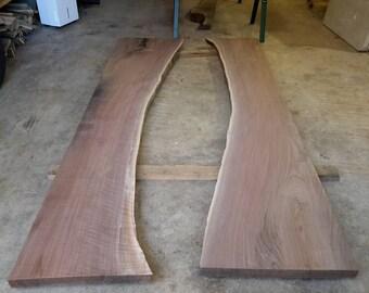 Live Edge Walnut River Table Slabs