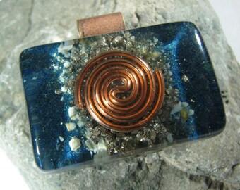 Azurite and Turquoise Orgone Pendant