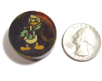 Donald Duck Bakelite Pencil Sharpener Vintage 1930s  1940s Walt Disney Collectible