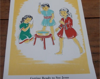 "SUNDAY SCHOOL ARTWORK, 1945, Scripture Press, 64 Nursery Lesson Pictures for ""Patty Goes to Nursery Class"" Course"