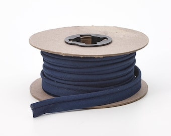 """Broadcloth cord piping, 1/2"""" Wide, 15 yds, Navy"""