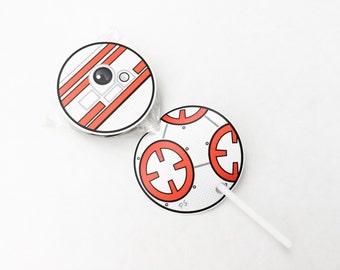 Star Battles. Droid Lollipop Cutouts. DIGITAL DOWNLOAD. DiY Printable Design. Pinkadot Shop