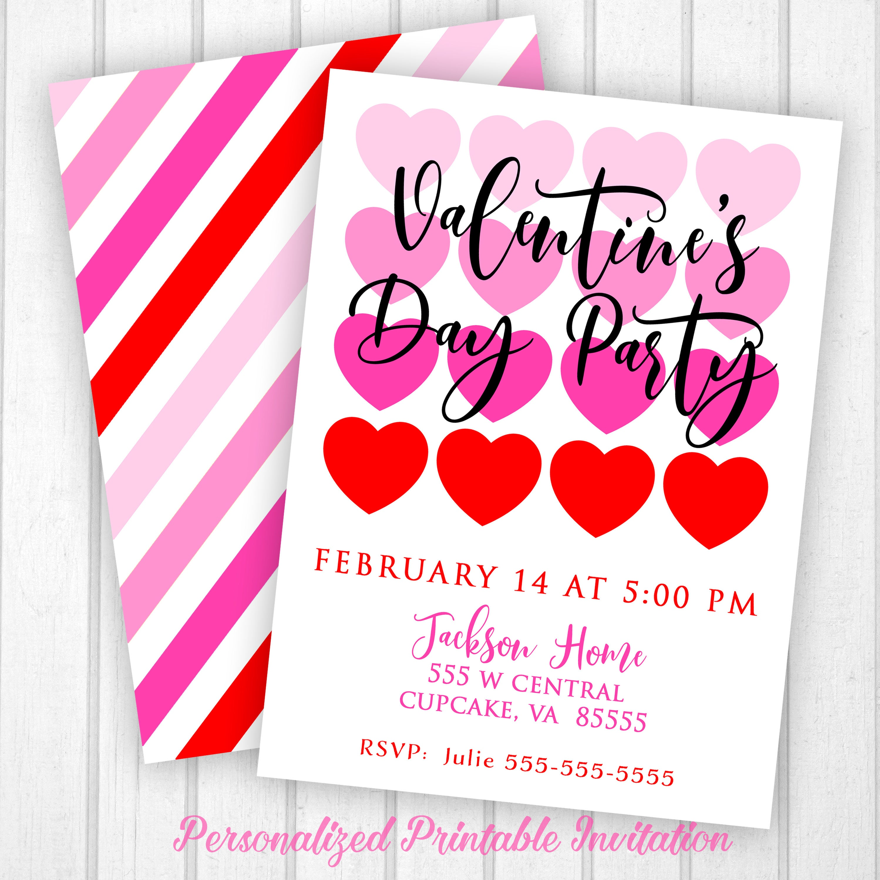 Valentine\'s Day Invitation Valentines Party Invitation
