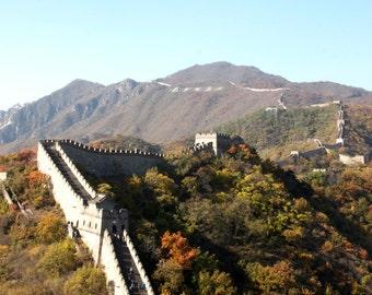 China Great Wall print, China Great Wall canvas, oversized art, Mutianyu photo, China photography, oversized print, travel photo