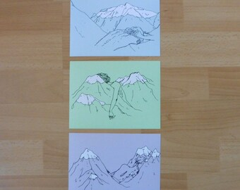 Mountain Drawings PRINT SET