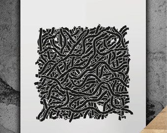 PRINTABLE DIGITAL DOWNLOAD - Original Abstract Art Illustration