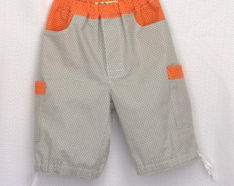Boys clam digger, beach comber shorts in 100% cotton. Sizes 2T, 3T, 4T, 5 - Rts Ready To Ship