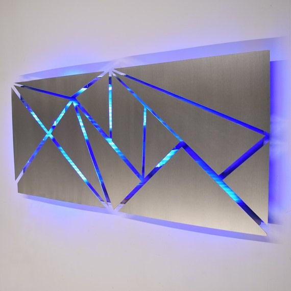 Gentil Metal Wall Art   Lighted Wall Art   Metal Wall Sculpture   Modern Wall Art    Geometric Wall Art   Abstract Art   LED Art   Contemporary Art
