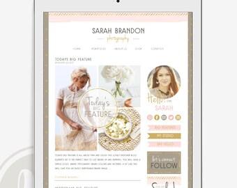Blog Kit - Blog Branding Package, Instant Download, Blog Makeover, Blog Website Elements, Branding Package, Blog Design