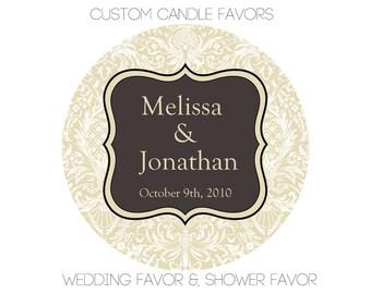 Customizable Favor, Hand Poured Soy Candle Favors, Customizable Scent & Label, Wedding Favor, Baby Shower Favor, Bridal Shower Favor