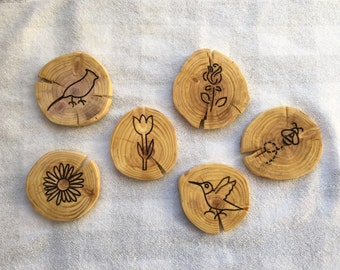 Spring coasters set of 6