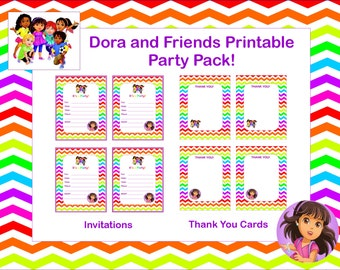 INSTANT DOWNLOAD! Dora and Friends DIY Printable Party Pack