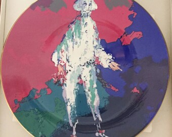 Rare Leroy Neiman for Royal Doulton Pierrot Collectors Plate Bone China with Original purchase receipt and Correspondence