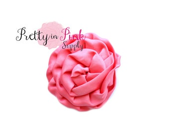 Coral Isabella Collection Ruffled Rosettes- Choose Quantity- Rolled Rosettes- Rolled Rosettes- Rosettes- Flower- Supply- DIY Headband