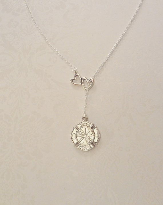 sterling pierced firefighter heart necklace girlfriend for silver of remember to pendant father disc gifts dad sympathy loss