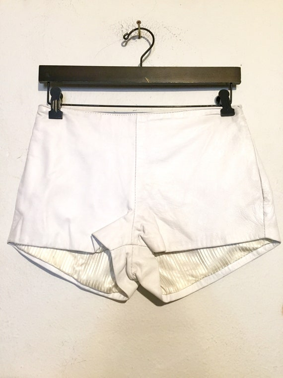 90s Vintage Leather Shorts