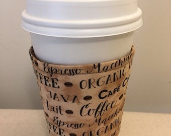 Quilted coffee sleeve
